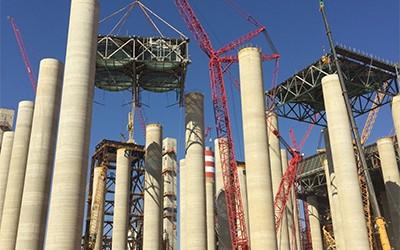 三一起重机援助非洲最大火电厂